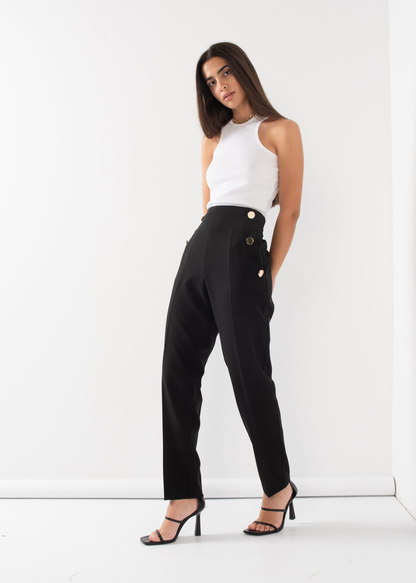BUTTONED TROUSERS