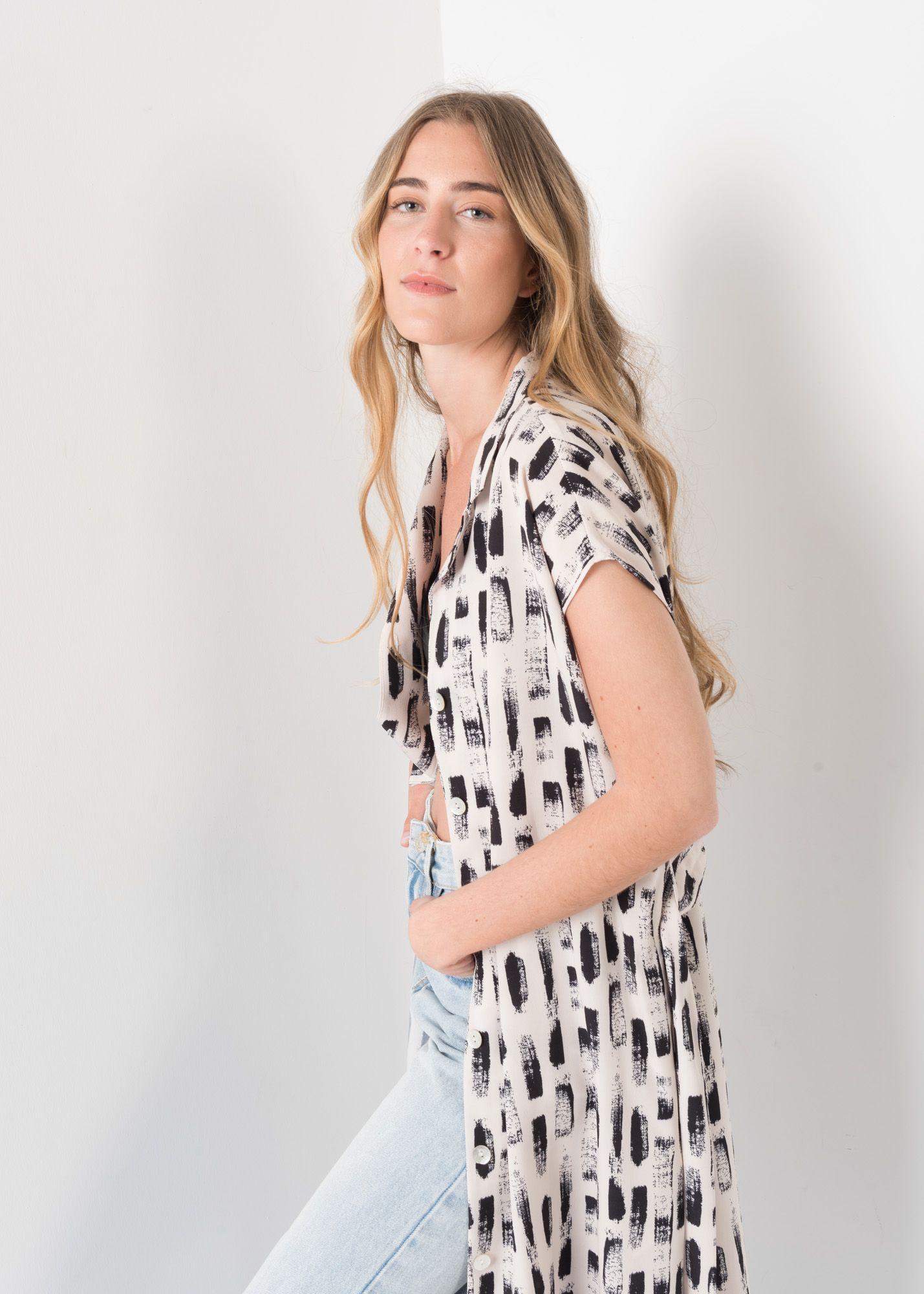 PRINTED DRESS SHIRT