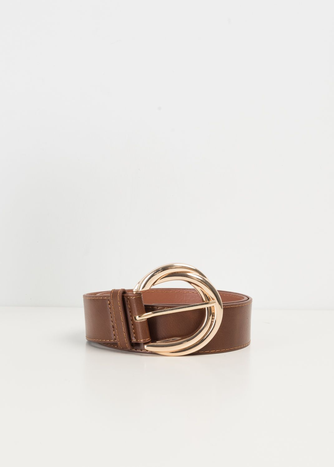 BELT WITH TEXTURED BUCKLE